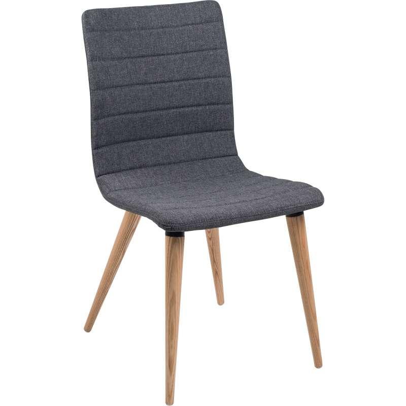 Chaise scandinave en tissu avec pieds en bois Doris | 4