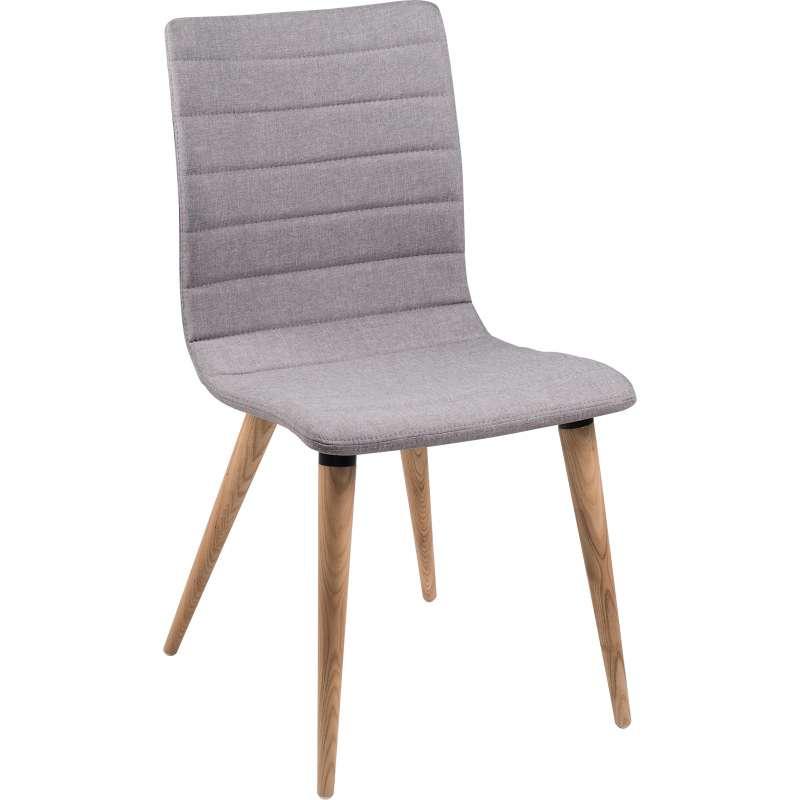Chaise Avec En Pieds Scandinave Tissu Doris Bois BeodCx