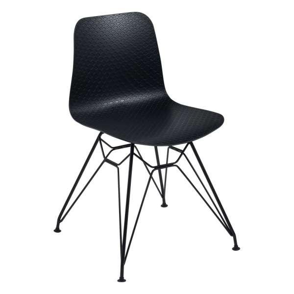 Chaise design en polypropylène noir et métal noir - Céleste  - 10