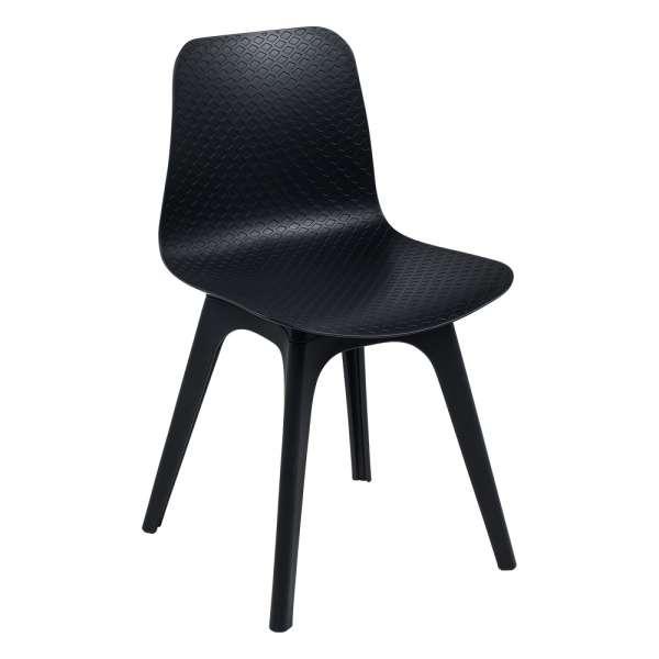 Chaise design en polypropylène noir - Céleste - 1