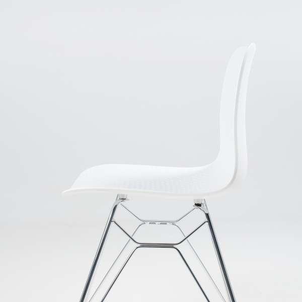 Chaise design en polypropylène blanc et métal - Céleste - 8