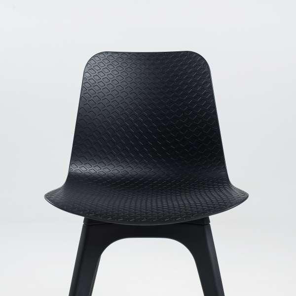 Chaise de designer en polypropylène noir - Céleste - 2