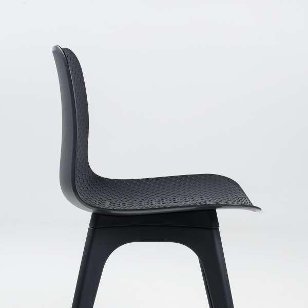Chaise moderne en polypropylène noir - Céleste - 4