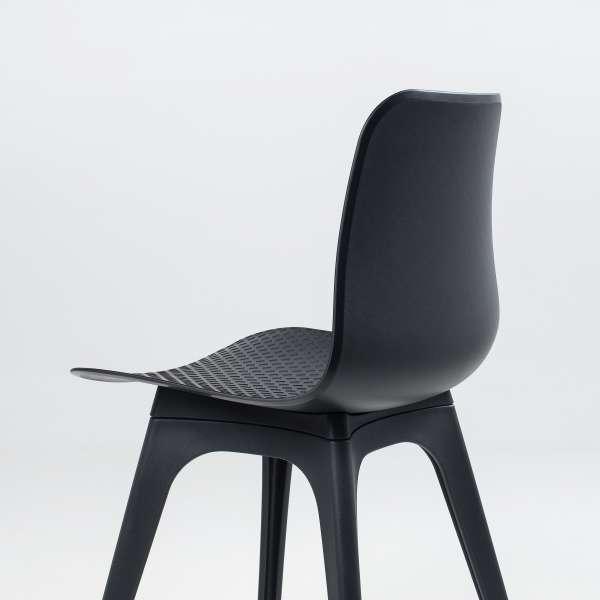Chaise design en polypropylène noir - Céleste  - 7