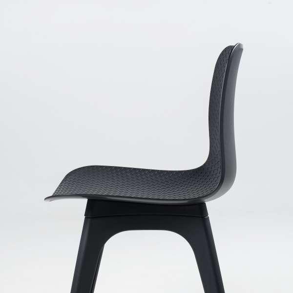 Chaise design en plastique noir - Céleste - 5