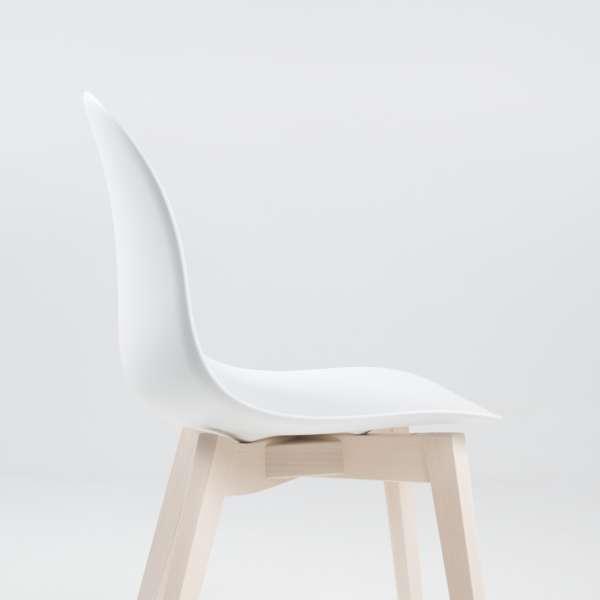 Chaise scandinave en polypropylène blanc et bois - 1665 Academy Connubia 4 - 4