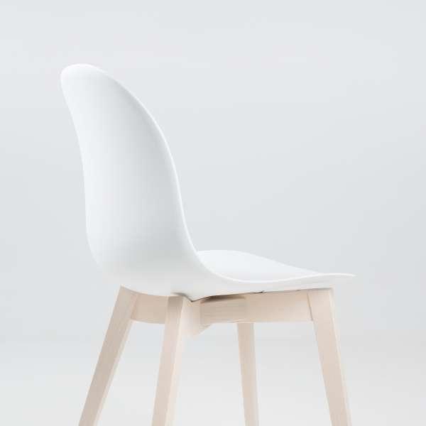 Chaise scandinave en polypropylène blanc et bois - 1665 Academy Connubia 7 - 7