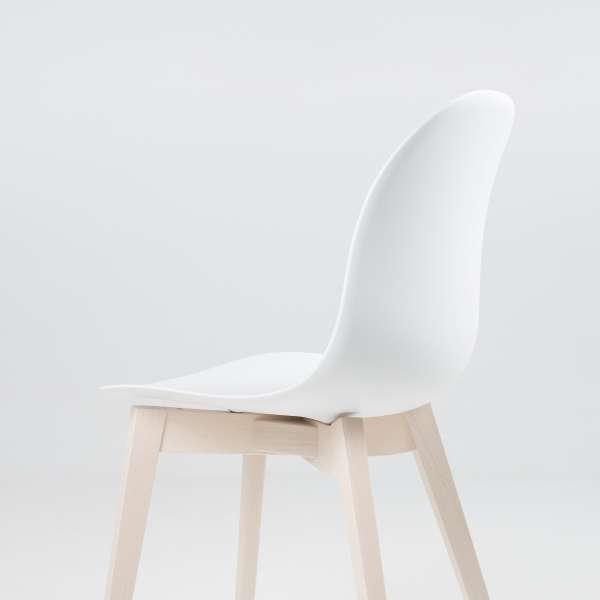 Chaise scandinave en polypropylène blanc et bois - 1665 Academy Connubia 8 - 8