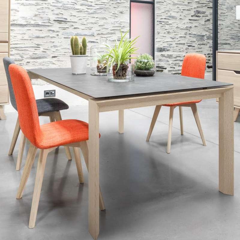 Table de salle manger extensible en c ramique - Table de salle a manger design avec rallonge ...