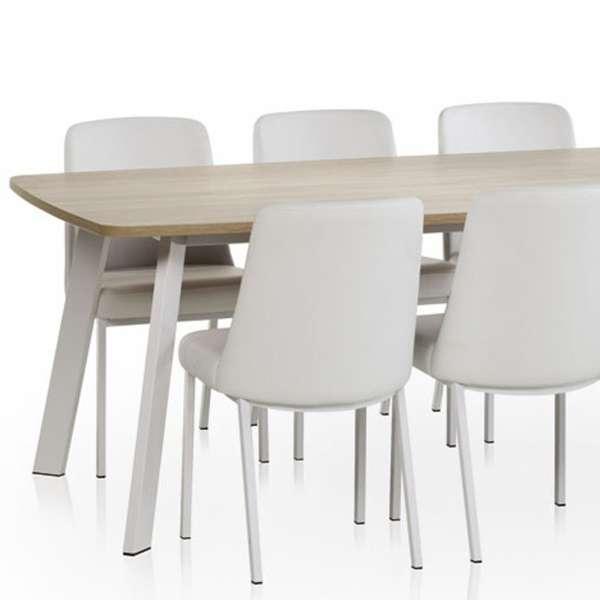 Chaise contemporaine en métal et vinyl - Elizé 2 - 2