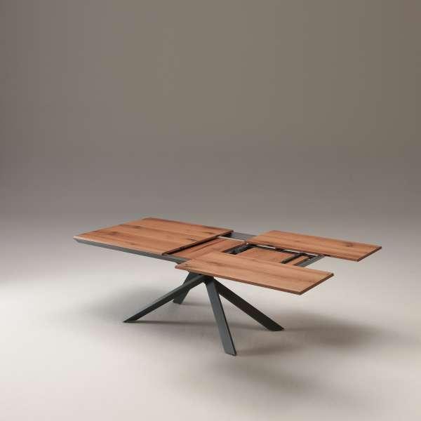 Table design rectangulaire extensible en bois et métal - 4x4 11 - 7