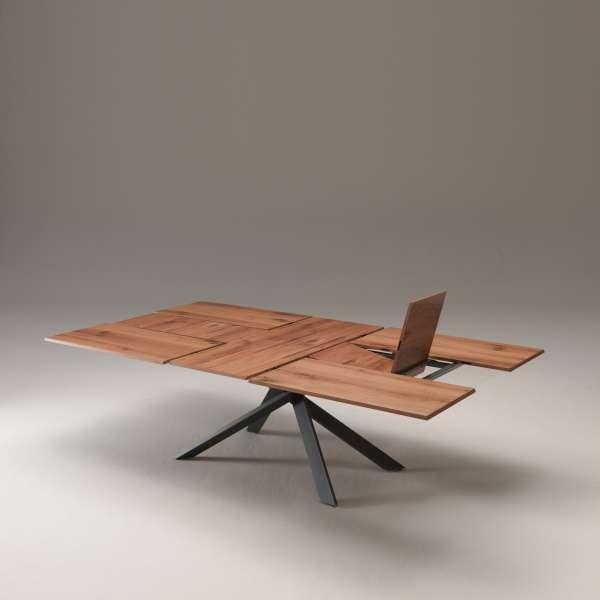 Table design rectangulaire extensible en bois et métal - 4x4 17 - 13