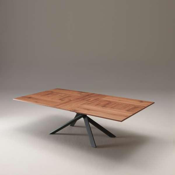 Table design rectangulaire extensible en bois et métal - 4x4 - 15