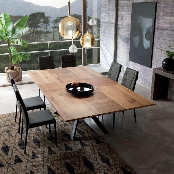 Table design rectangulaire extensible en bois et métal - 4x4 2 - 2