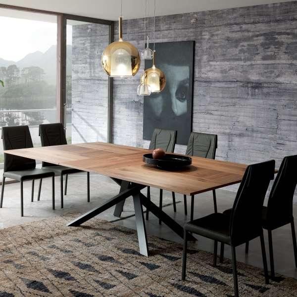 Table design rectangulaire extensible en bois et métal - 4x4 3 - 17