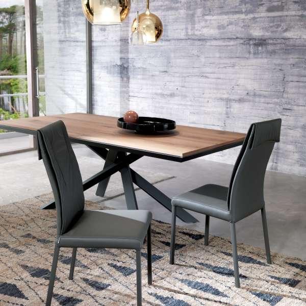 Table design rectangulaire extensible en bois et métal - 4x4 5 - 3