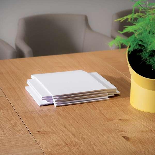 Table design rectangulaire extensible en bois et métal - 4x4 6 - 19