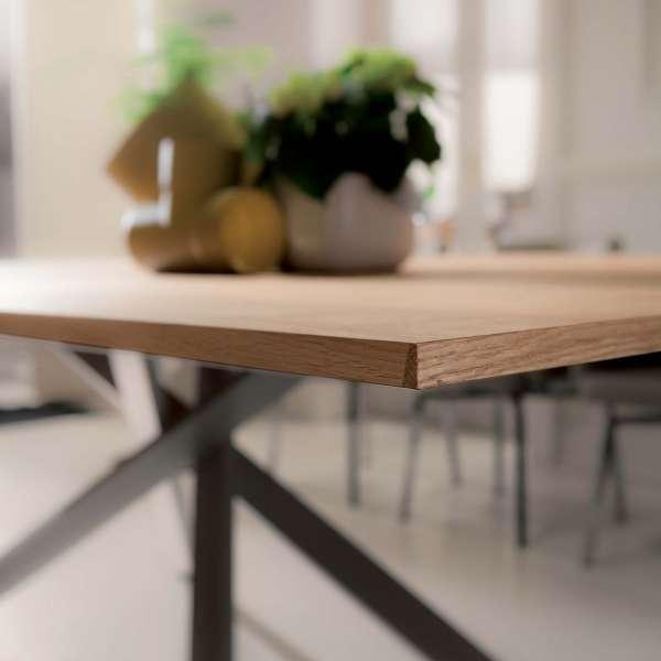 Table design rectangulaire extensible en bois et métal - 4x4 7 - 4