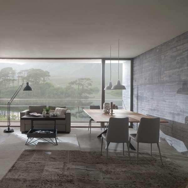 Table design rectangulaire extensible en bois et métal - 4x4 9 - 20