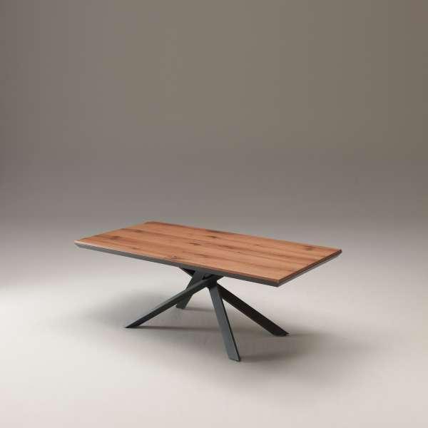 Table design rectangulaire extensible en bois et métal - 4x4 - 16