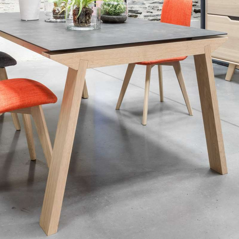 Table De Salle A Manger Extensible En Ceramique Rectangulaire