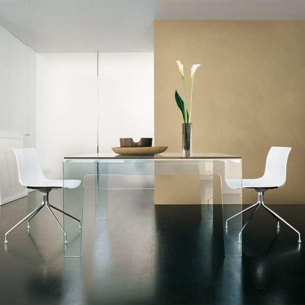 Table design rectangulaire ou carrée en verre - Frog Sovet® 7 - 7