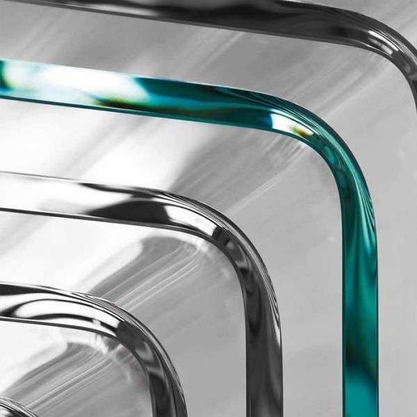 Table design rectangulaire ou carrée en verre - Frog Sovet® 4 - 4