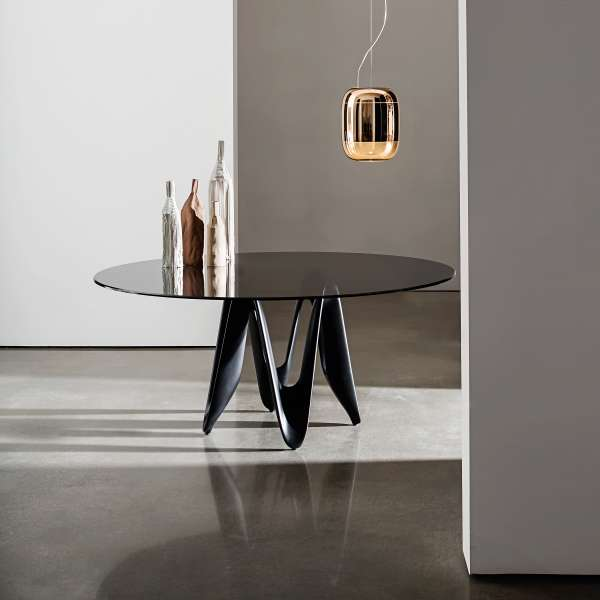 Table ronde design en verre - Lambda Sovet® 2 - 2