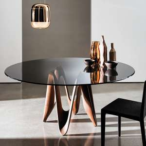 Table ronde design en verre - Lambda Sovet®