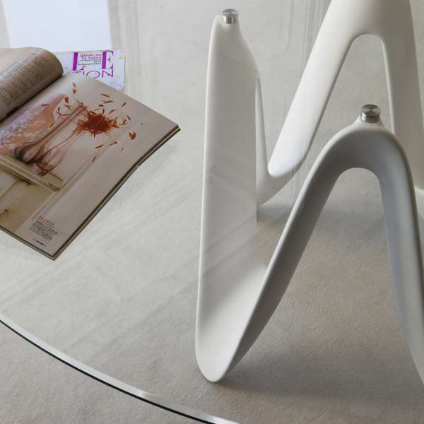 Table ronde design en verre - Lambda Sovet® 6 - 6