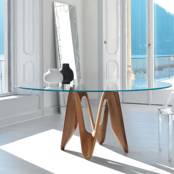 Table ronde design en verre - Lambda Sovet® 7 - 7