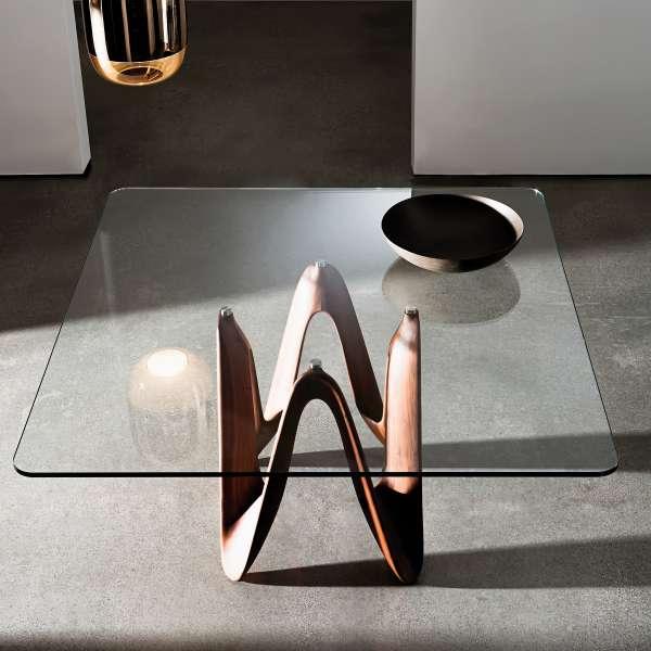 Table en verre design carrée 140 x 140 cm - Lambda Sovet® 2 - 1