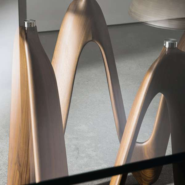 Table en verre design carrée 140 x 140 cm - Lambda Sovet® 4 - 3