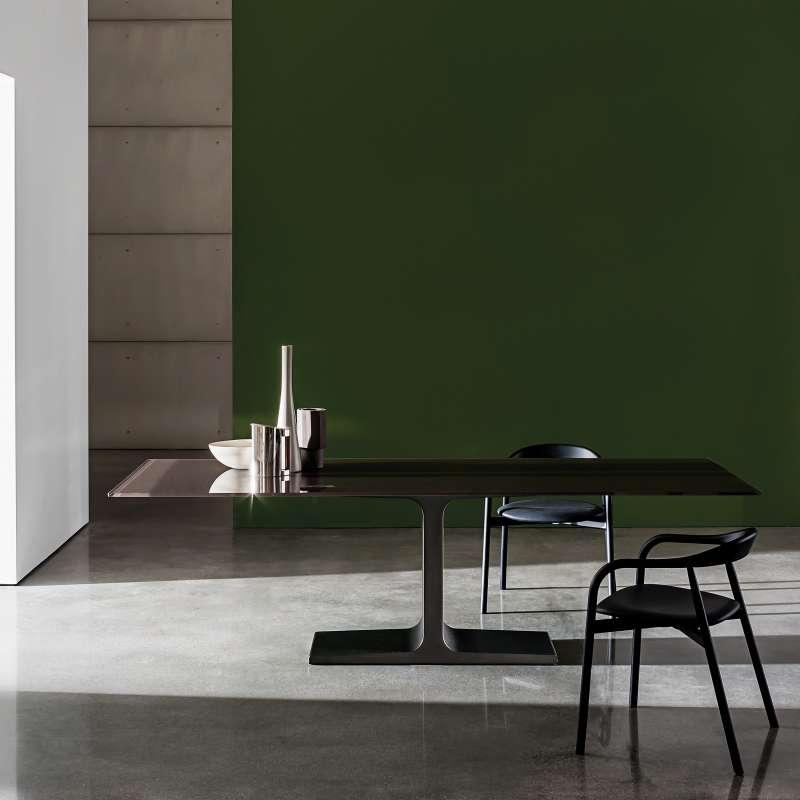 table de salle à manger design rectangulaire en verre - palace sovet