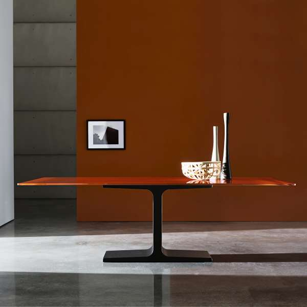 Table de salle à manger design rectangulaire en verre - Palace Sovet®