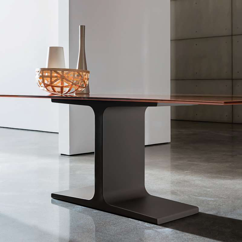 Table de salle manger design rectangulaire en verre Table de salle a manger en verre