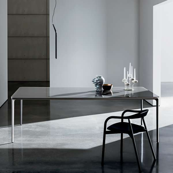 Table design rectangulaire en verre - Slim Sovet® 6 - 6
