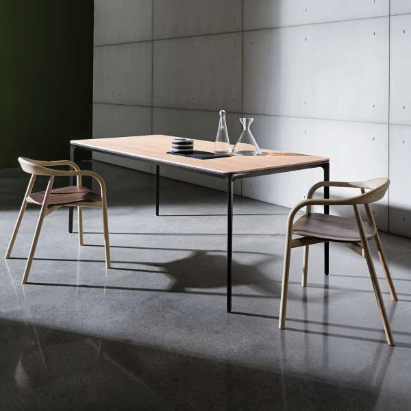 Table design plateau bois - Slim Sovet® 2 - 2