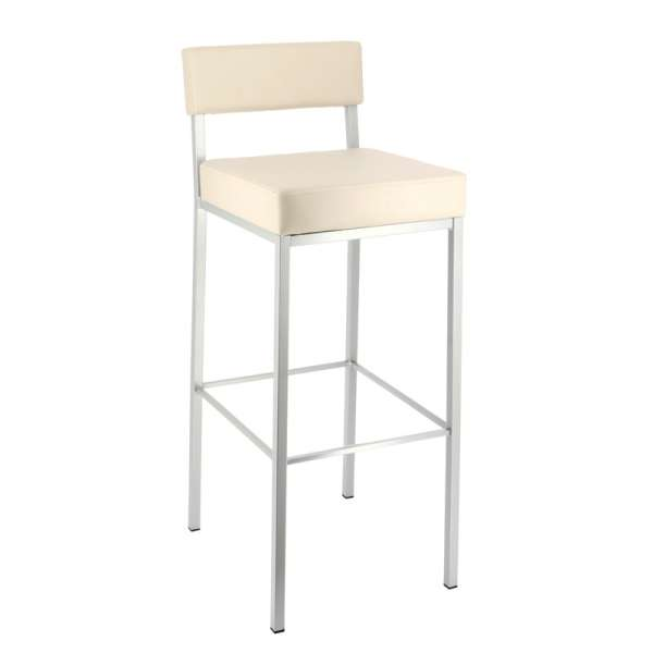 Tabouret de bar moderne en métal et synthetique - Quinta - 1