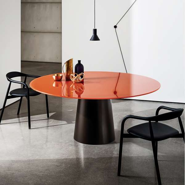 Table ronde design en verre - Totem Sovet® - 1