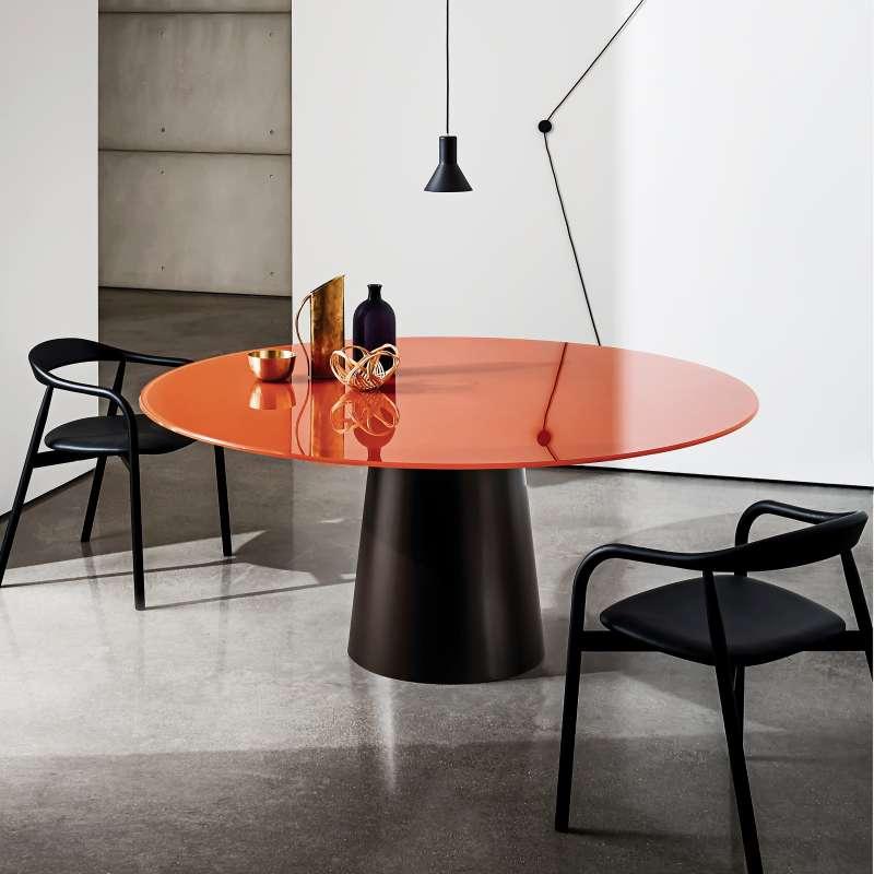 Table Ronde En Verre Design 4 Chaises: Table Ronde Design En Verre - Totem Sovet®