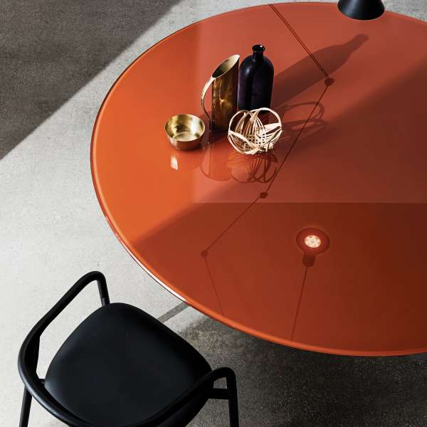 Table ronde design en verre - Totem Sovet® 2 - 2