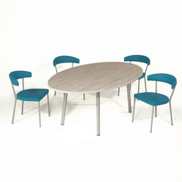 Table de cuisine ovale en stratifié - Elli 4 - 4