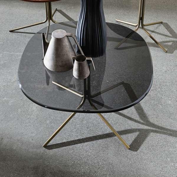 Table basse design en verre et métal - Genius 2 - 2