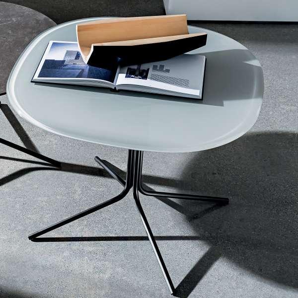 Table basse design en verre et métal - Genius 3 - 3