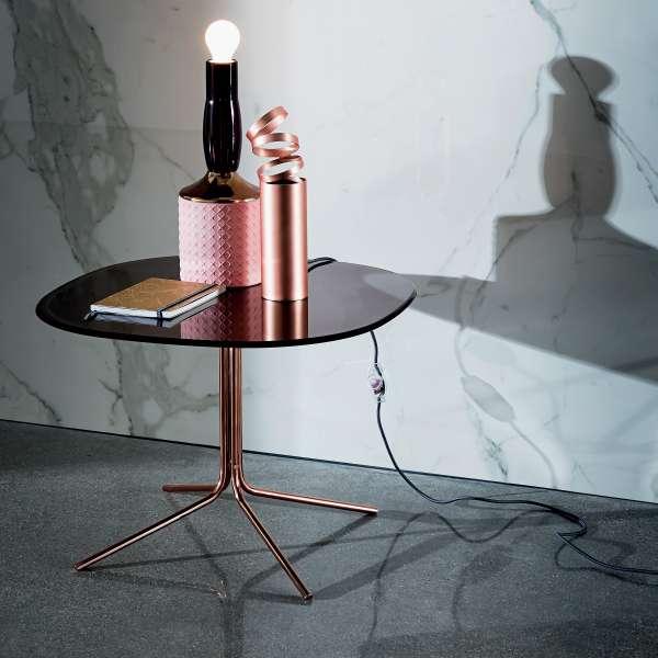 Table basse design en verre et métal - Genius 4 - 4