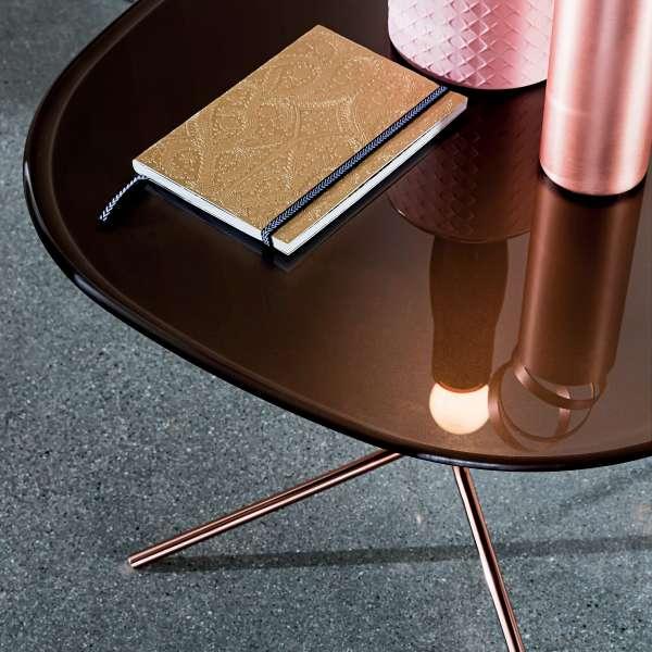 Table basse design en verre et métal - Genius 5 - 5