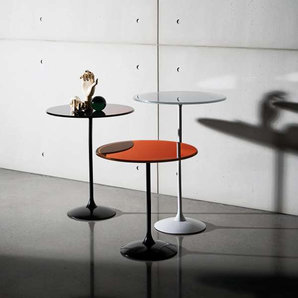 Table basse design en verre - Tulip 2 - 2
