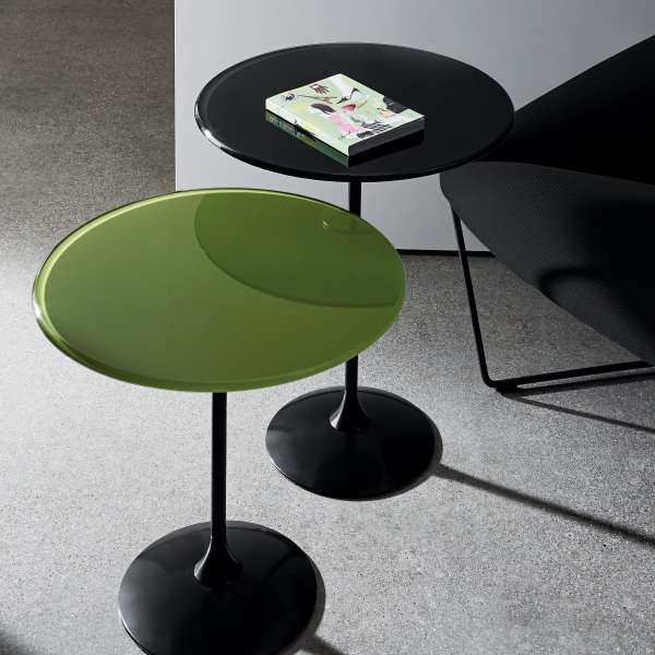 Table basse design en verre - Tulip - 1
