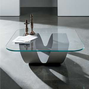 Table basse design en verre - Ring